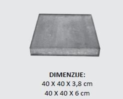 betonske ploče ekskluziv dimenzije